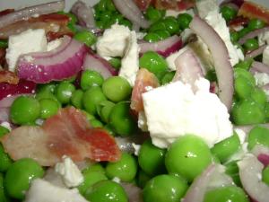 Frittata + Pea & Feta salad 010